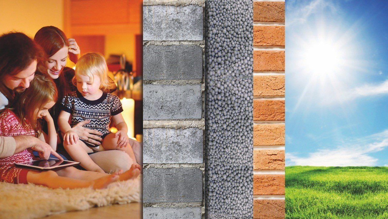 Cavity Wall Insulation with EPS Beads