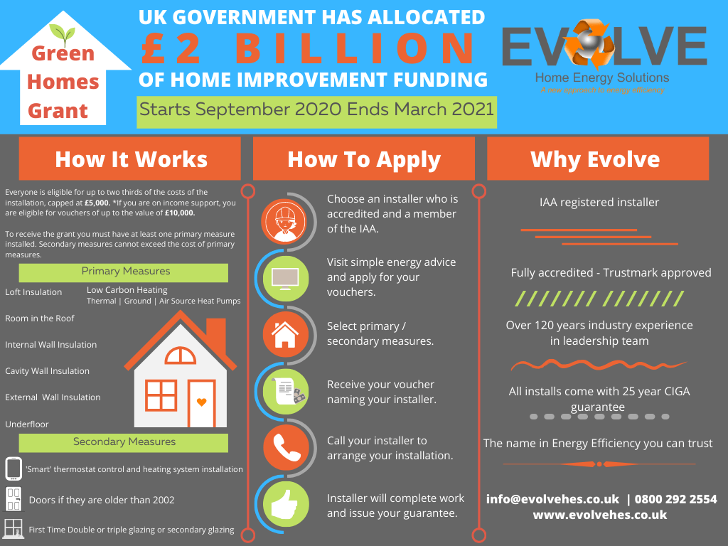 UK Government Green Homes Grant Infographic